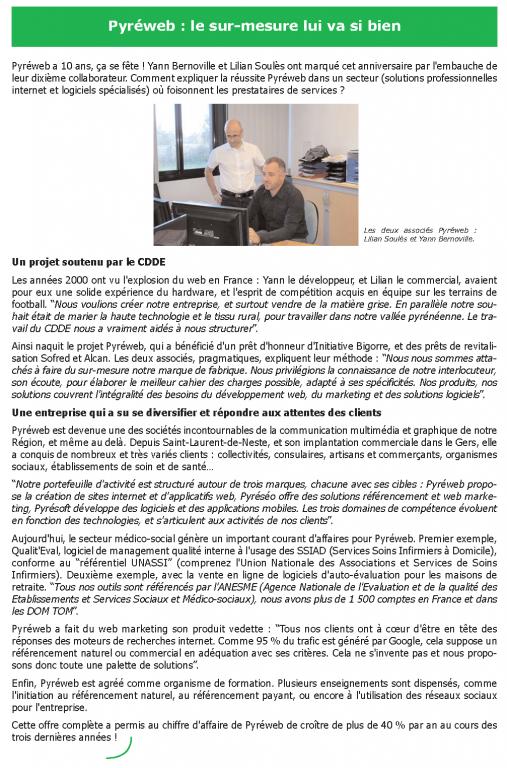 Newsletter du Comité Départemental de Développement Economique du 65