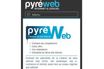 Pyréweb.com version mobile
